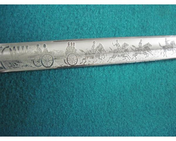 Germany:  Double engraved Nazi artillery sword